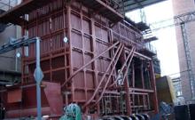 天津75吨循环流化床锅炉项目